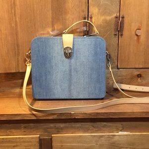 Diesel Denim Briefcase Handbag